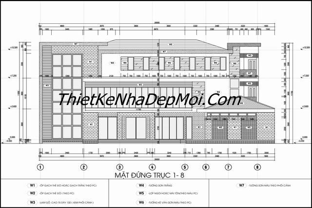 bản vẽ cad kiến trúc nhà hàng