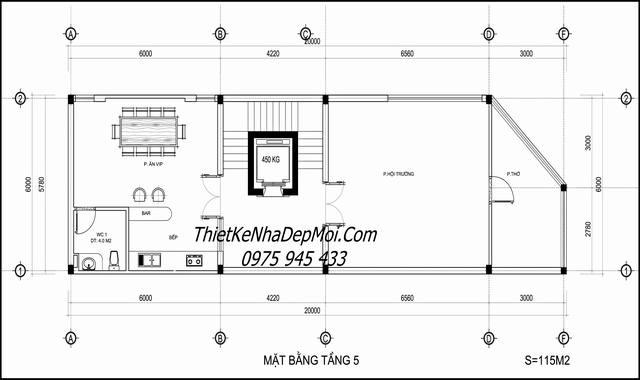 Thiết kế nhà 2 mặt tiền làm văn phòng đơn giản