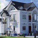 Mẫu nhà 2 tầng mái thái đẹp 9432