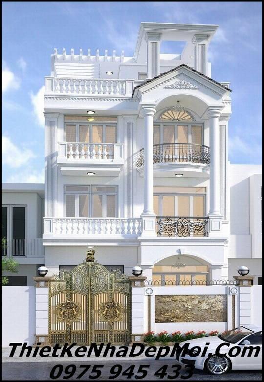 Biệt thự 4 tầng mặt tiền 8m