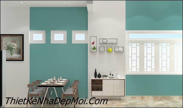 mẫu nhà cấp 4 hiện đại 5x20, Mẫu nhà cấp 4 hiện đại 5×20 2 phòng ngủ đẹp không gian mở, Công ty thiết kế xây dựng Nhà Đẹp Mới, Công ty thiết kế xây dựng Nhà Đẹp Mới