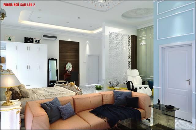 Không gian phòng ngủ cổ điển tầng lầu
