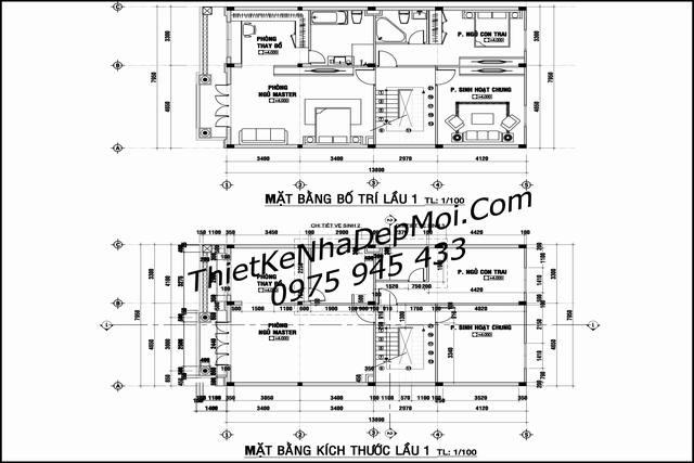 Thiết kế biệt thự phố 8x18 3 tầng