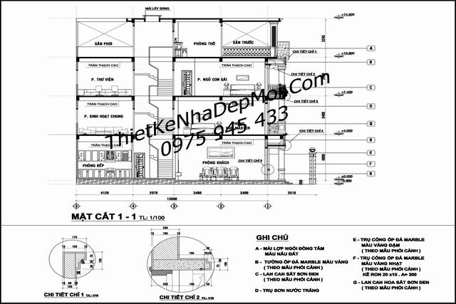 mẫu nhà phố mặt tiền 8m 3.5 tầng