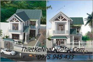 Nhà mái thái 2 tầng chữ L đẹp