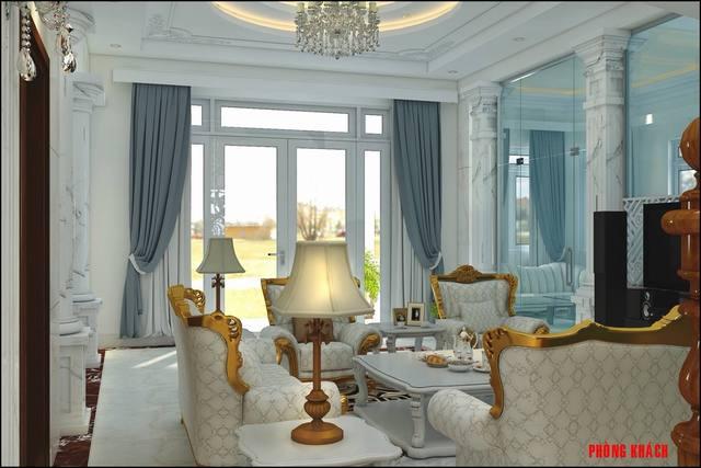 Nội thất phòng khách cổ điển đẹp nhất