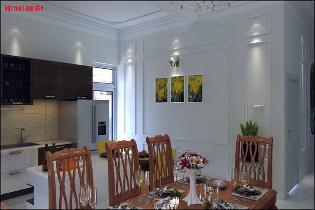 nội thất phòng bếp kiểu cổ điển