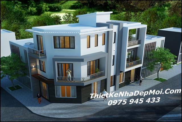nhà đẹp 3 tầng 2 mặt tiền