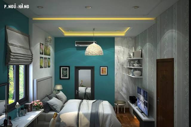 Thiết kế phòng ngủ rộng 22m2 đẹp