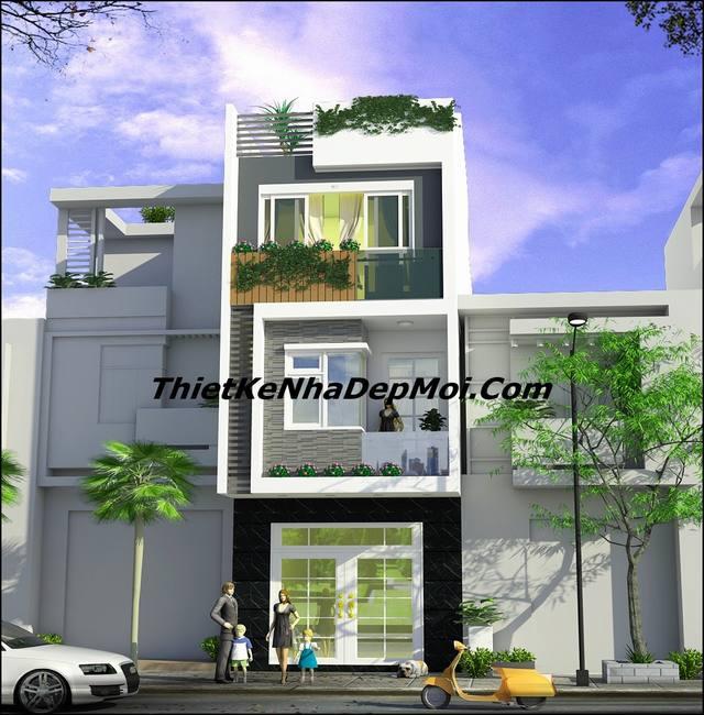 thiết kế nhà 3 tầng 65m2
