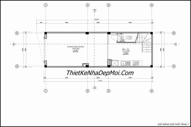 Thiết kế nhà 40m2 bản vẽ