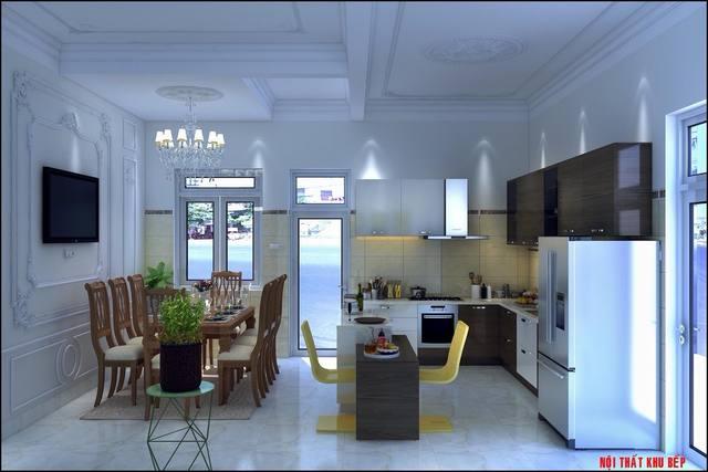 Thiết kế phòng bếp kiểu cổ điển