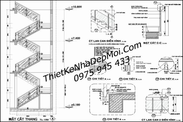 Thiết kế biệt thự 1 trệt 2 lầu 1 sân thượng mặt phố 8m