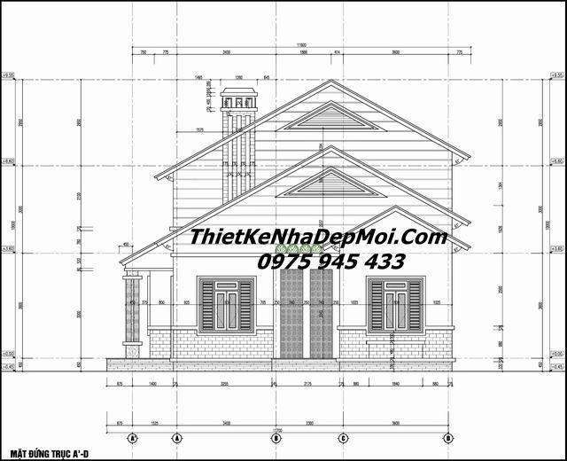 Bản vẽ xây nhà 2 tầng đơn giản 100m2