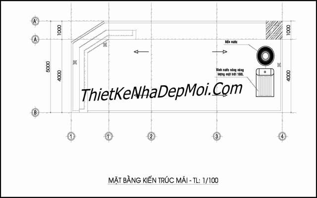 Bản vẽ thiết kế nhà ống 50m2