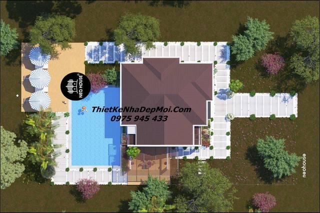 Biệt thự vườn có bể bơi đẹp
