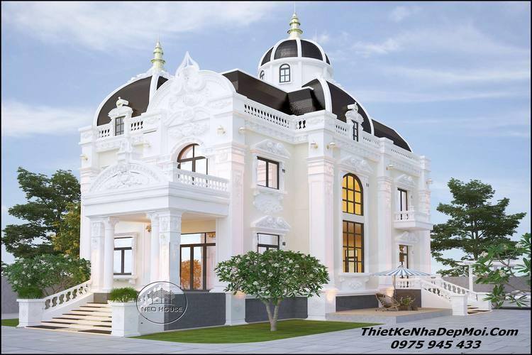 biệt thự cổ điển 3 tầng đẹp nhất