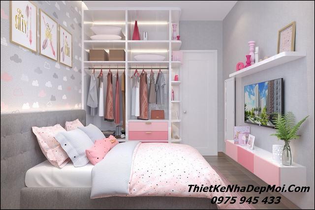 Mẫu phòng ngủ đẹp rộng 12m2