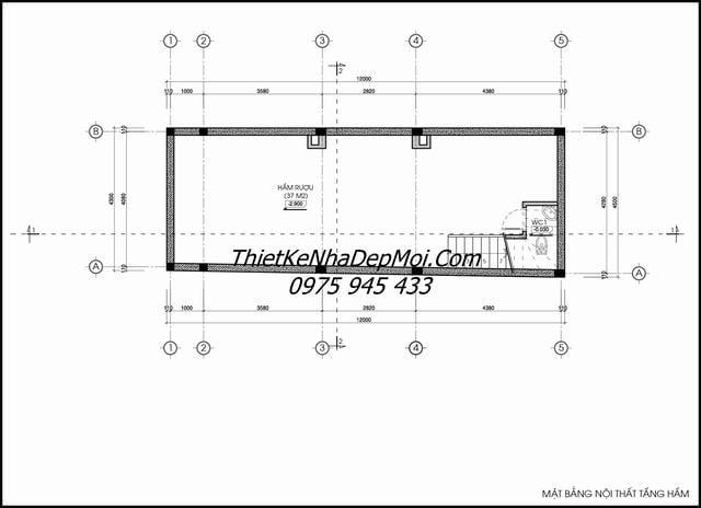 Mẫu thiết kế nhà ống 5 tầng