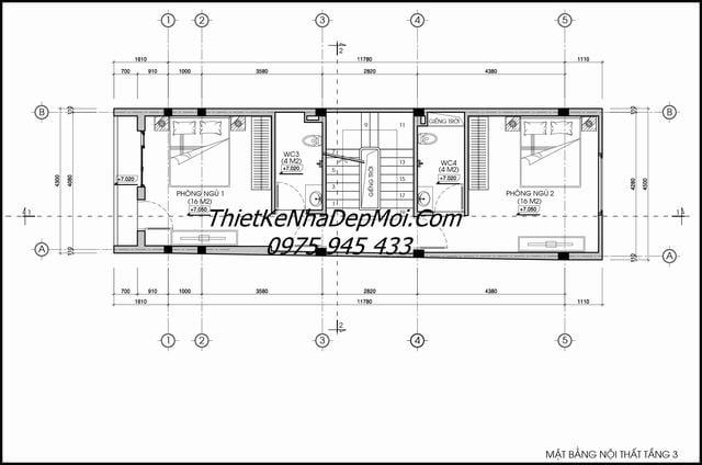 Mẫu thiết kế nhà ống 5 tầng đẹp