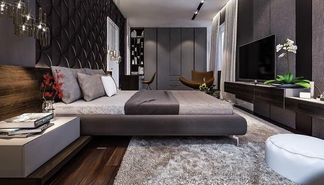 Nội thất phòng ngủ hiện đại châu âu