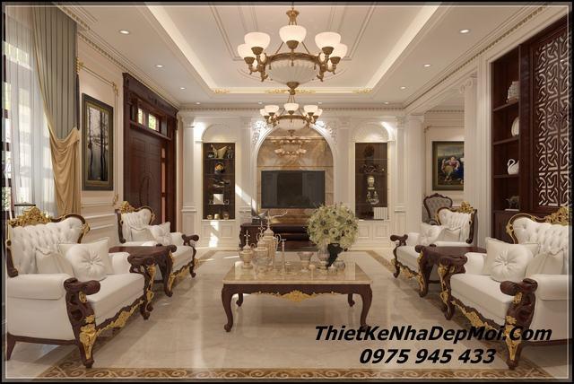Phòng khách đẹp tân cổ điển