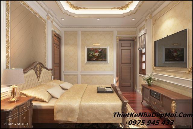 Phòng ngủ tân cổ điển pháp