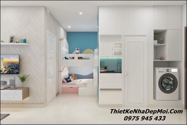 Phòng ngủ nhà ống rộng 14m2