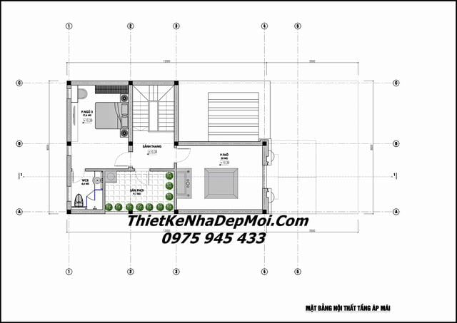 Thiết kế biệt thự phố rộng 8m sâu 15m