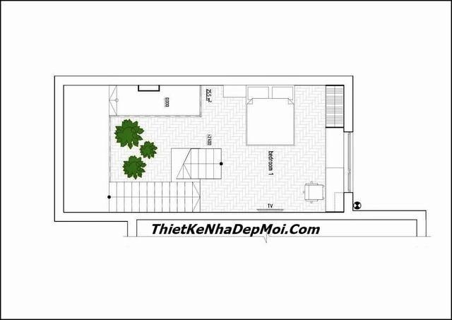 Mẫu thiết kế nhà hẹp ngang 3m