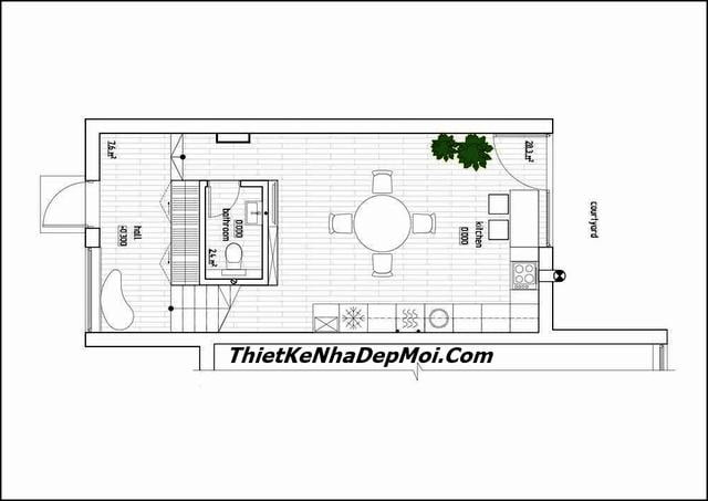 Thiết kế nhà ống diện tích 3x10