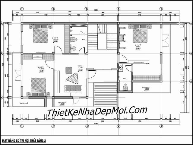 Bản vẽ biệt thự 10x20 3 tầng