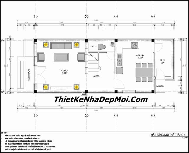 Bản vẽ thiết kế nhà 65m2