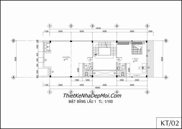 Bản vẽ nhà phố thương mại tầng lầu