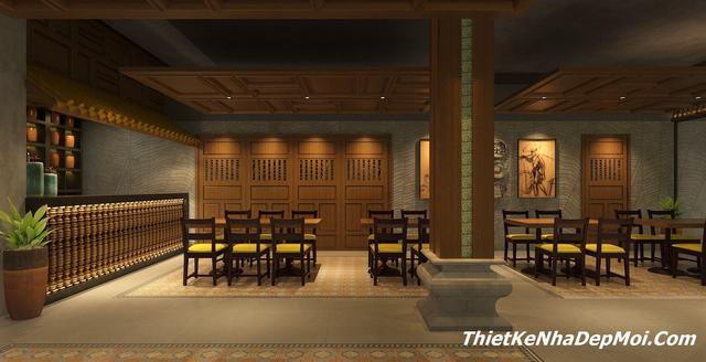 Mẫu thiết kế nhà hàng đơn giản