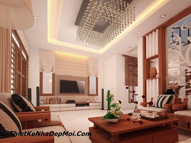 Mẫu nội thất phòng khách biệt thự mini