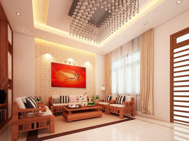 Thiết kế nội thất phòng khách 28m2