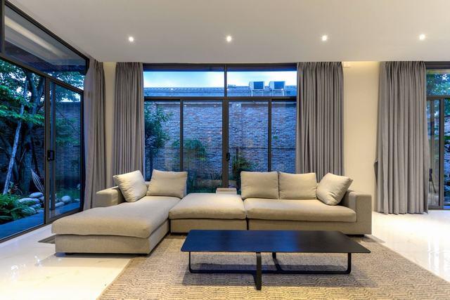 Không gian phòng khách đơn giản