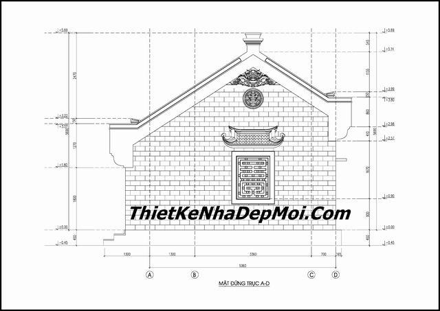 Thiết kế nhà 5 gian hiện đại