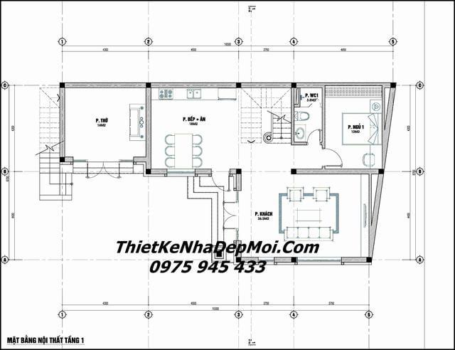 Thiết kế nhà có bề ngang rộng