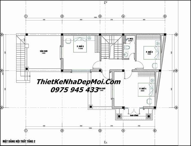 Thiết kế nhà có chiều sâu ngắn