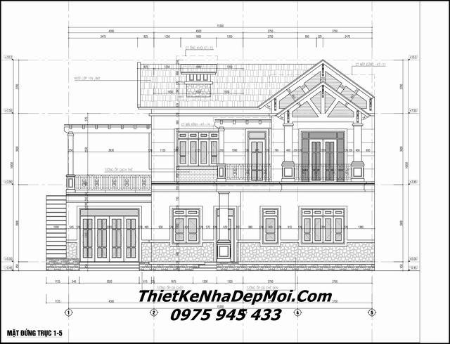Thiết kế nhà mặt tiền rộng chiều sâu hẹp