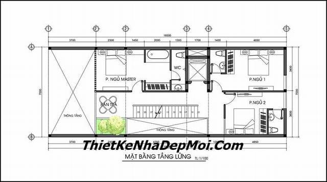 Bản vẽ thiết kế nhà nghỉ mini