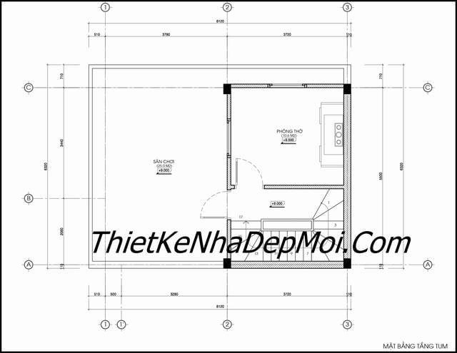Thiết kế nhà ống 45m2 6x8m