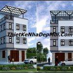 Thiết kế nhà phố 45m2