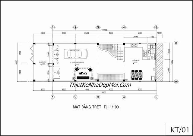 Thiết kế nhà phố thương mại 4 tầng 6x16