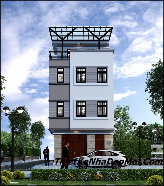 Thiết kế nhà trên đất 6x8