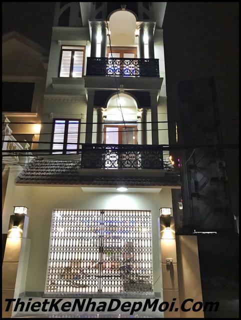 Xây nhà 3 tầng 1 tum đẹp
