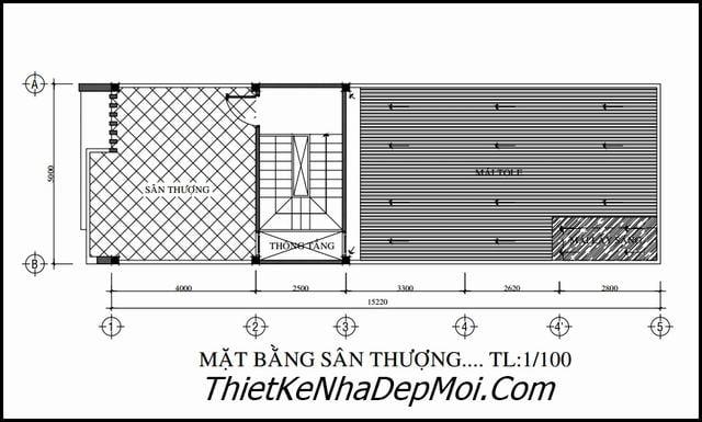 Chi phí xây nhà 1 trệt 1 lầu 5x20
