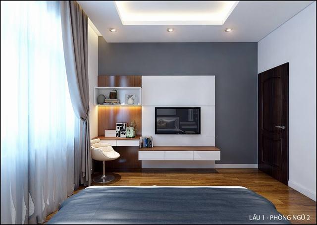 nội thất phòng ngủ nhà phố 5m